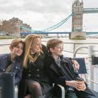 Mum's day out on the Thames with the kids.