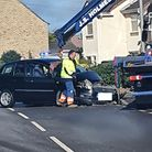 Police were called at around 6.45am this morning (May 24) after a Ford and Nissan car crashed on the A605 atEastrea.