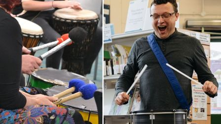 Anthony Paul will lead two samba drumming workshops at Haddenham Arts Centre this weekend.