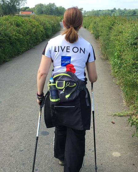 The Dunmow & District Poppy Appeal Organiser is in training for a 100km walk