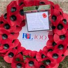 A wreath was laid at Great Dunmow War Memorial to commemorate 100 years
