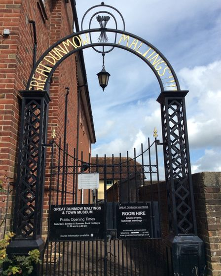 The entry gates to Great Dunmow Maltings and Town Museum