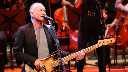 Sting performs in concert at the 7th Annual Performance Series of Legends Benefit Concert for The Du