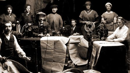 The first photo ofJeckells The Sailmakers in 1914 - taken to celebrate the factory having a lightbulb installed