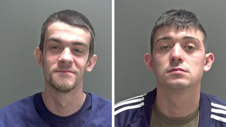 Shane Wilson, left, and Ricky Wilson, right, who have been jailed following a street attack in King's Lynn.