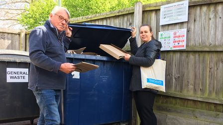 West Suffolk Council has teamed up with Balmforth Eastate Agents to sort out the recycling problem in Springs Close