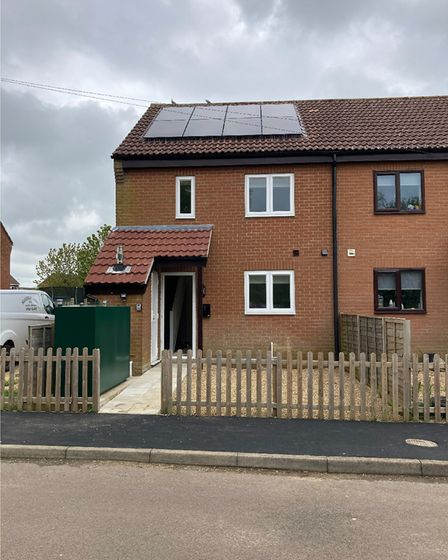 The first family in need of housing has moved into NNDC's newly renovated temporary accommodation, just outside of Fakenham.