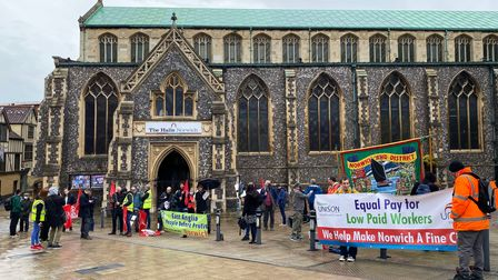 NCSL protesters outside the St Andrew's Hall