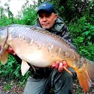 Rich Parks 20lbs Mirror Carp from Newbarn Angling Centre