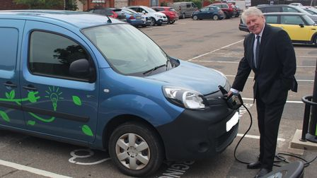 Electric Vehicle charging points have now been fitted in the Corn Exchange car park in Haverhill