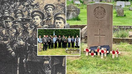 Members of the Royal British Legion Riders Branch and soldiers from the Cambridgeshire Regiment