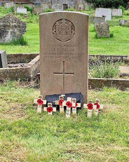 The grave of Private John Payne at Guyhirn Old Churchyard