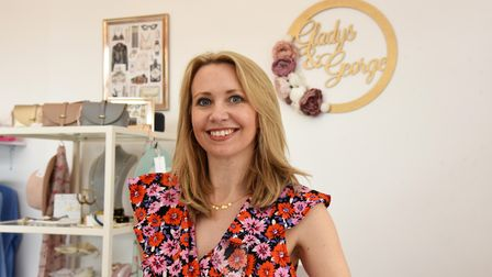 Sarah has opened a new boutique in Mildenhall highstreet, Gladys and George Picture: CHARLOTTE BOND