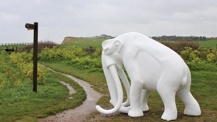 The Steppe Mammoth sculpture pictured at West Runton