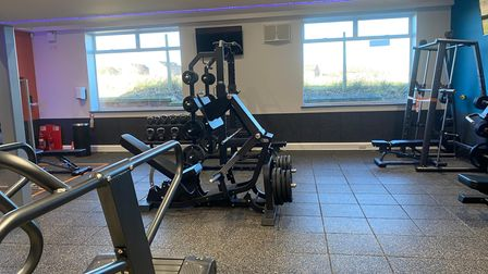 The gym at the Waveney Valley Leisure Centre in Bungay, East Suffolk.