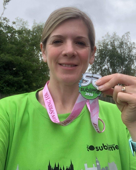 Debbie Agger took part in 10k lucky dip events