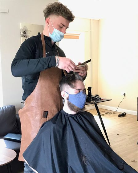 Five residents of the Sudbury Young People Supported Housing were given free haircuts by Blade and Fade barbers