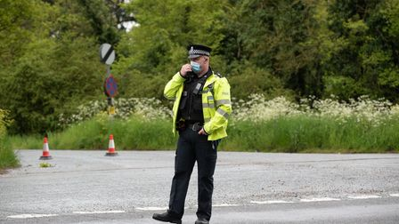 The A12 at Wangford has been closed in both firections due to a serious gas leak. Picture: Sarah Luc