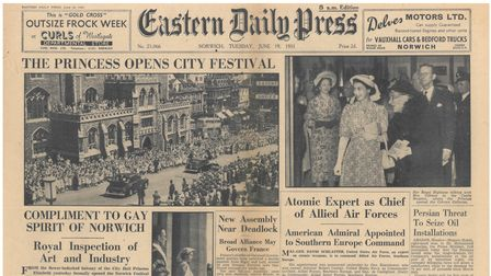 Front page of the EDP 19 June 1952