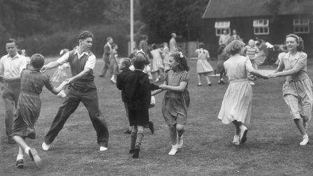 While thousands enjoyed the Norwich Festival Carnival at Eaton Park in 1951. These happy youngsters