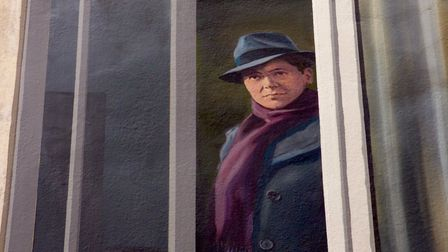 Resistance hero Jean Moulin's mural in Beziers. Pic: Stephen Turnbull