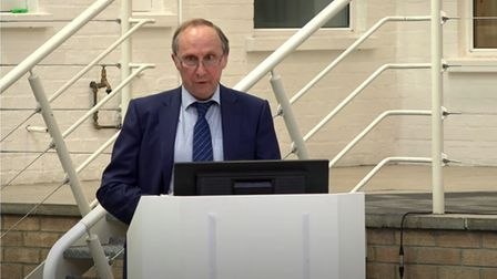 Babergh District Council leader John Ward announces one change to his cabinet at the 2021 annual meeting.