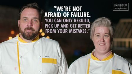 Alex and Stacey were the first team to be kicked off Bake Off: The Professionals