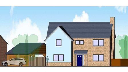 Artists illustration of what the new homes could look like in Cockfield, near Lavenham