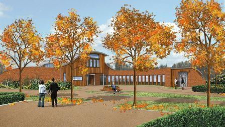 Artists impression of planned East Coast Hospice Margaret Chadd House