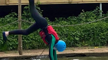 Cambs scouts paddleboard activity
