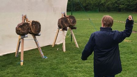 Cambs scouts throwing