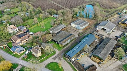 Aerial view of Hill Farm, Wentworth.