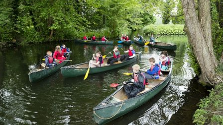 Norfolk Scouts at an activity camp at Eaton Vale in Norwich.