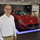 Owner Ray Cawston in the new car showroom after C&L invested £500,000 into their business