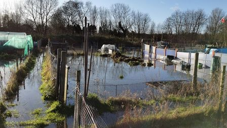 The Brandon allotments which has flooded twice since December, has been recovered by a delivery of compost