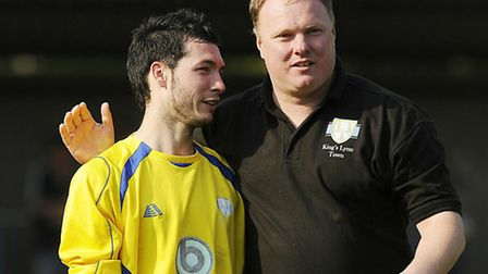 New Thetford boss Danny White, left, is hoping to make use of his extensive contacts in the local ga
