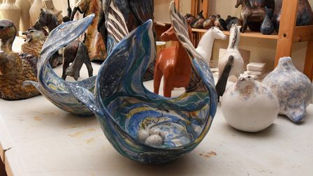 Local Suffolk artist Mary Wyatt creates some beautifully intricate sculptures in her studio in Felix