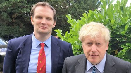 Boris Johnson's meeting at Claydon was hosted by local MPs Dr Dan Poulter and Dr Therese Coffey, Pic