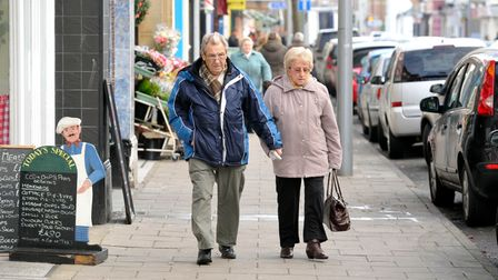 Shoppers in High Street, Clacton. EADT 1.12.12