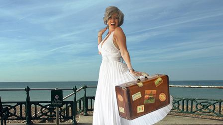 Vicki Michelle in Hello Norma Jeane which is being performed in Southwold this summer
