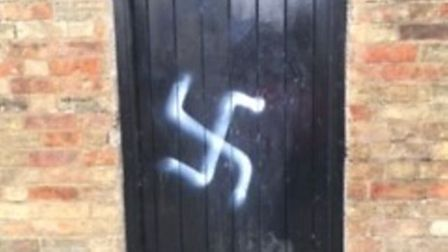 19-year-old man from Elyarrested on suspicion of criminal damage in connection with Swastika graffiti in the city.