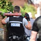 Dereham Police raided a property in The Maltings early on Monday morning, searching for drugs. Pictu