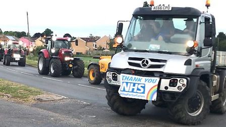 May 2020: Tractors, forklifts and trucks steamed through Doddington and Wimblington to pay tribute to the NHS