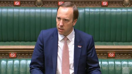 Health Minister Matt Hancock in the House of Commons answeringr an urgent question over allegations