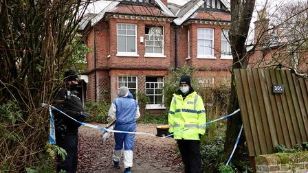 Police and crime experts investigate the fire that killed grandmother Vera Croghan