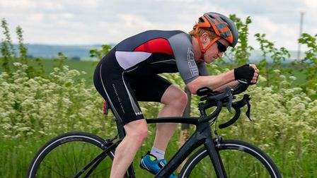 Aaron Ball in his open time trial debut race. (1)