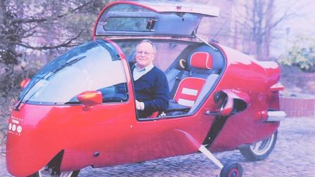 Ecomobile inventor Arnold Wagner in the one that is being sold by Rowley's auction house in Ely.