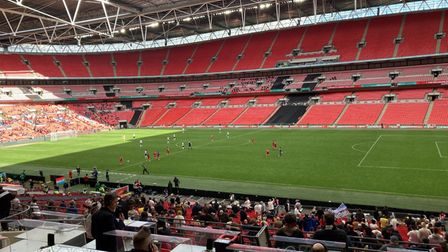 View from the Wembley Stadium press box