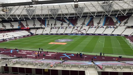 View from the London Stadium press box