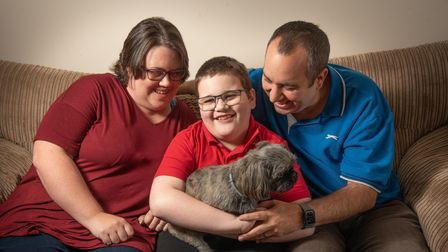 Steph and Paul Brooks are fundraising to make their garden accessible for their son Jake, 11, who su